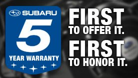 Subaru 5 Year Warranty Button