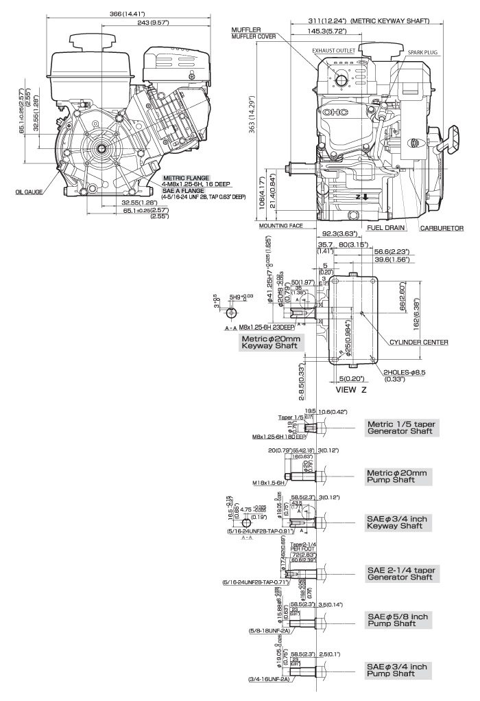 SP210 Small OHC Engine Technical Information Subaru