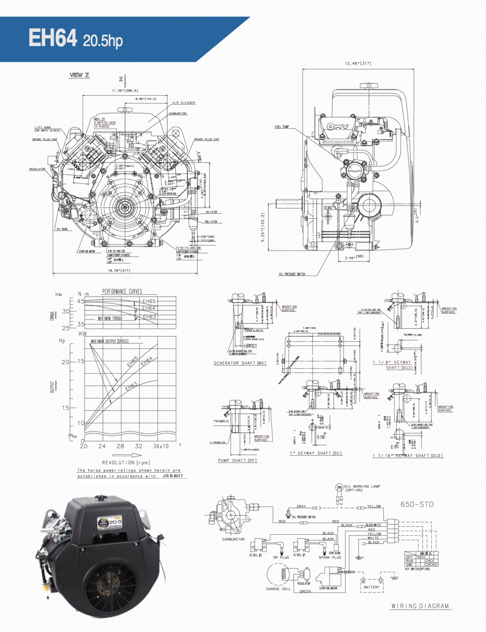 Eh64 Small Ohv V Twin Engine Technical Information Subaru Robin Diagram Download Pdf Version Owners Manual