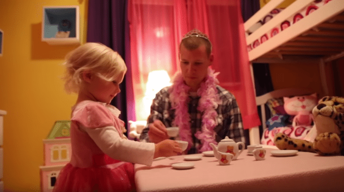 Subaru Powered Equipment Owner Has A Tea Party With His Daughter